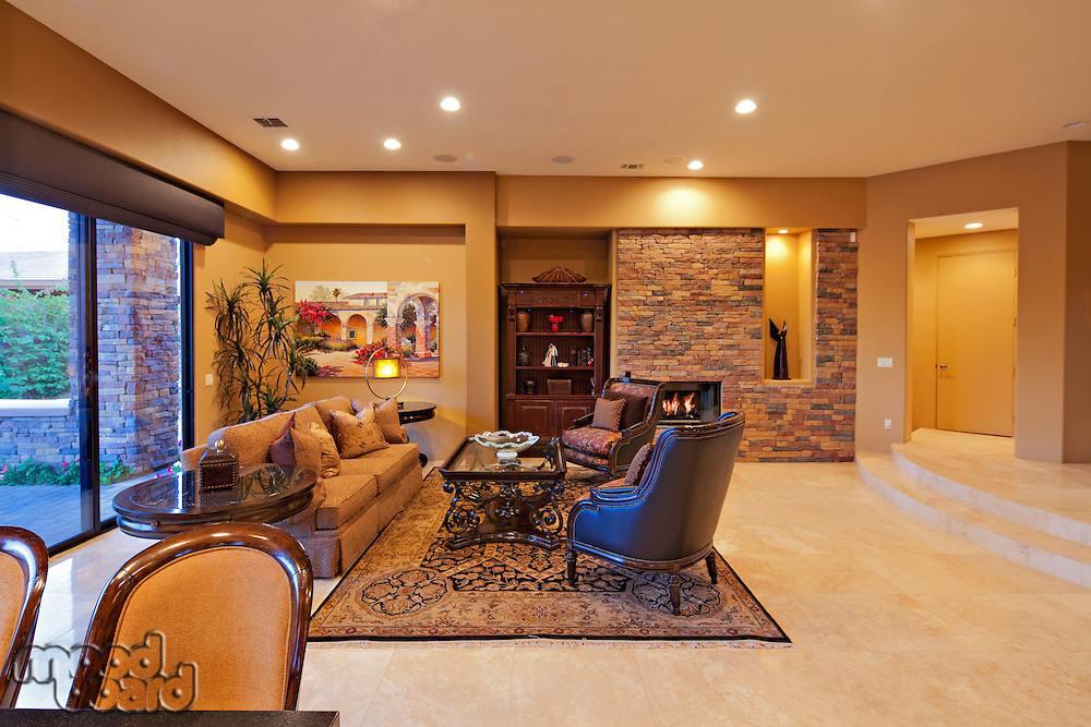 Modern living room in manor house