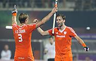 BHUBANESWAR  (INDIA)  -   Champions Trophy Hockey.  Rogier Hofman scored for Netherlands (3-0) . left Floris van der Linden.