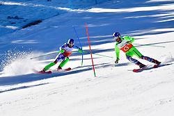 HARAUS Miroslav, Guide: HUDIK Maros, B2, SVK, Slalom at the WPAS_2019 Alpine Skiing World Cup, La Molina, Spain