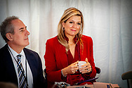UTRECHT - Koningin Maxima woont de de conferentie The Future of Sustainable Trade bij ter gelegenheid van het tienjarig bestaan van het Initiatief voor Duurzame Handel (IDH). ANP ROYAL IMAGES ROBIN UTRECHT **NETHERLANDS ONLY**