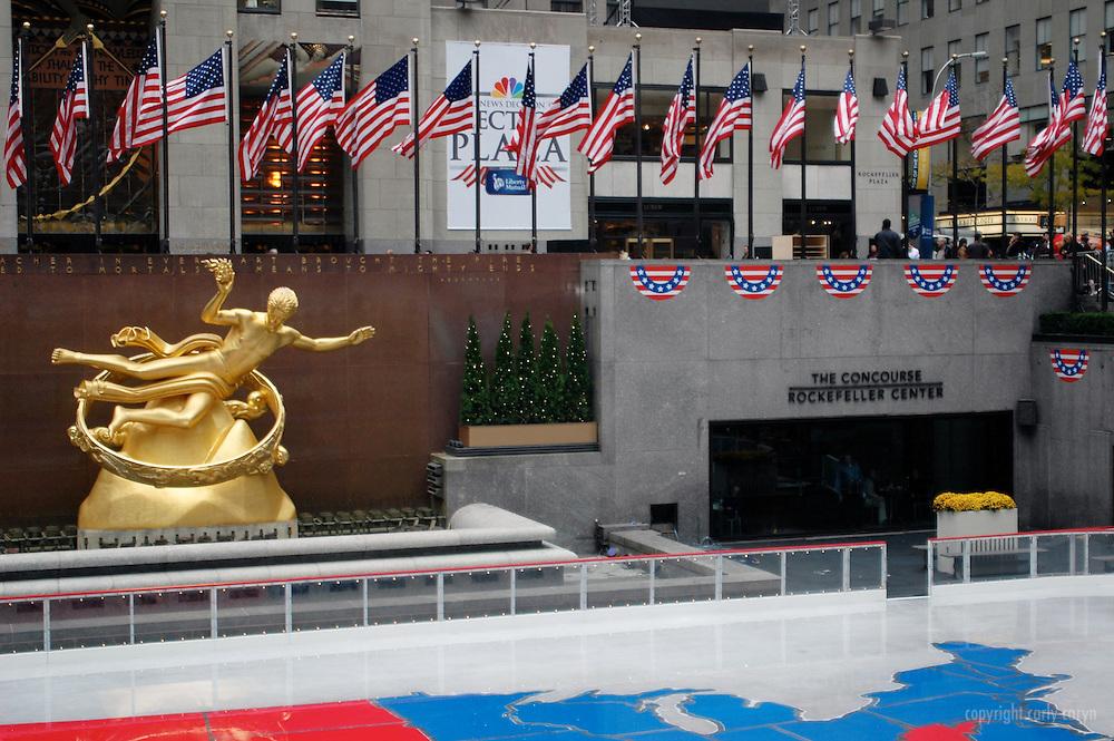 2008 Election map, Rockefeller Center