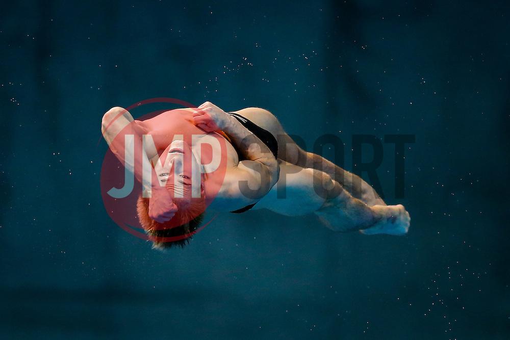 Jack Laugher of Great Britain in action during the Mens 3m Springboard Preliminary - Mandatory byline: Rogan Thomson/JMP - 12/05/2016 - DIVING - London Aquatics Centre - Stratford, London, England - LEN European Aquatics Championships 2016 Day 4.