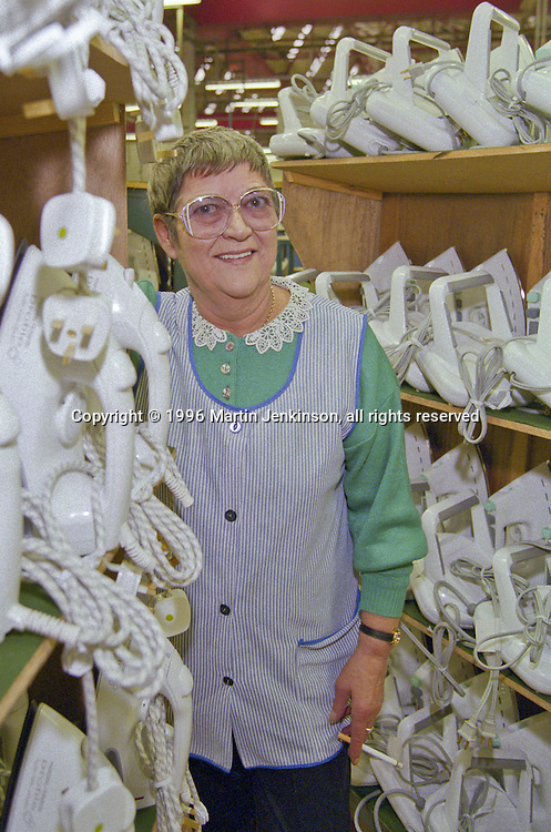 Tina Axe, TGWU Convenor Morphy Richards, Swinton 1996.