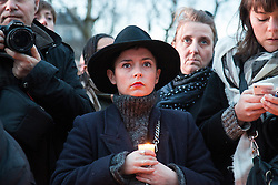 © Licensed to London News Pictures. 10/01/2016. France, Paris. Thousands of people come together on Place de la Republique to remember the 149 people currently killed in terror attacks in Paris since the 2015 Charlie Hebdo events. Today January 10th 2016. Photo credit: Hugo Michiels/LNP