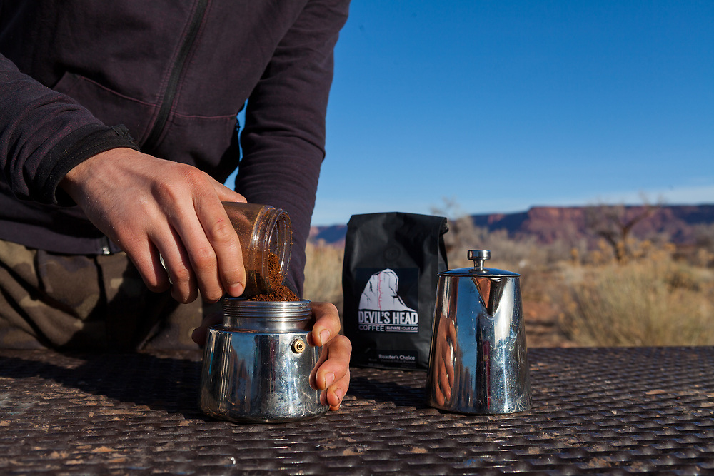 Devil's Head Coffee in the Desert
