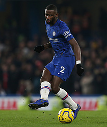 Antonio Rudiger of Chelsea on the ball - Mandatory by-line: Arron Gent/JMP - 21/01/2020 - FOOTBALL - Stamford Bridge - London, England - Chelsea v Arsenal - Premier League