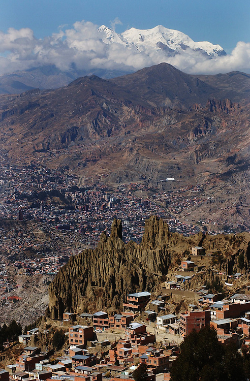 A view of La Paz, Bolivia.
