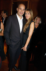 DR MARTIN KELLY and his wife actress NATASHA McELHONE at The Hospital Awards - to honour talent in the creative industry, held at 9 Grosvenor Place, London on 3rd october 2006.<br />