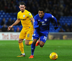 Nathaniel Mendez-Laing of Cardiff City gets past Alan Browne of Preston North End- Mandatory by-line: Nizaam Jones/JMP - 29/12/2017 -  FOOTBALL - Cardiff City Stadium - Cardiff, Wales -  Cardiff City v Preston North End - Sky Bet Championship