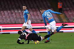 December 19, 2017 - Naples, Italy - MARKO ROG (SSC Napoli) and JOSE' CALLEJON (SSC Napoli) in action during the TIM Cup match between SSC Napoli and Udinese Calcio at Stadio San Paolo on December 19, 2017 in Naples, Italy. (Credit Image: © Paolo Manzo/NurPhoto via ZUMA Press)