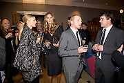 LAURA BAILEY; ELLE MACPHERSON; SIMON PEGG,  Esquire Man at the Top Awards 2008. Haymarket Hotel. London. 3 November 2008 *** Local Caption *** -DO NOT ARCHIVE -Copyright Photograph by Dafydd Jones. 248 Clapham Rd. London SW9 0PZ. Tel 0207 820 0771. www.dafjones.com