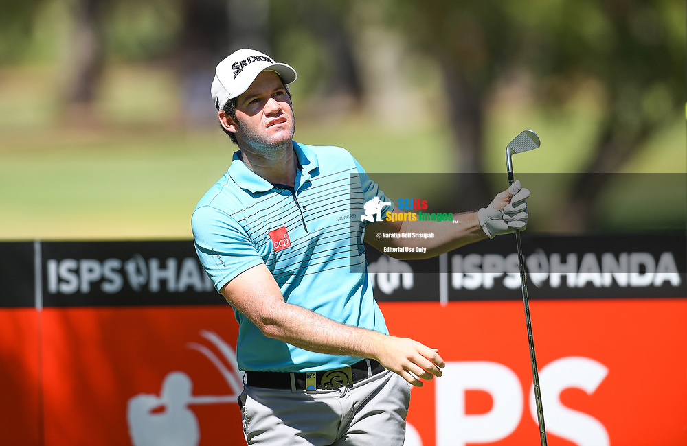 PERTH, AUSTRALIA - FEBRUARY 14: Ricardo Gouveia (POR) on the 14th tee during the 1st round of the ISPS Handa World Super 6, Lake Karrinyup Country Club, Perth, Western Australia, on February 14, 2019. <br /> .<br /> .<br /> .<br /> (Photo by: Naratip Golf Srisupab/SEALs Sports Images)<br /> .<br /> Any image use must include a mandatory credit line adjacent to the content which should read: Naratip Golf Srisupab/SEALs Sports Images