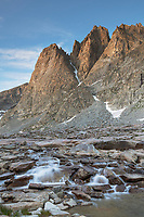 Mount Helen seen from Upper Titcomb Basin, Bridger Wilderness, Wind River Range Wyoming