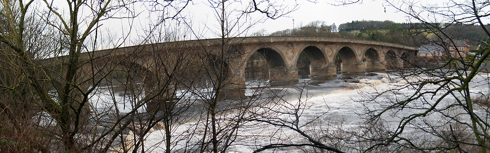 Hexham bridge and weir, Northumberland