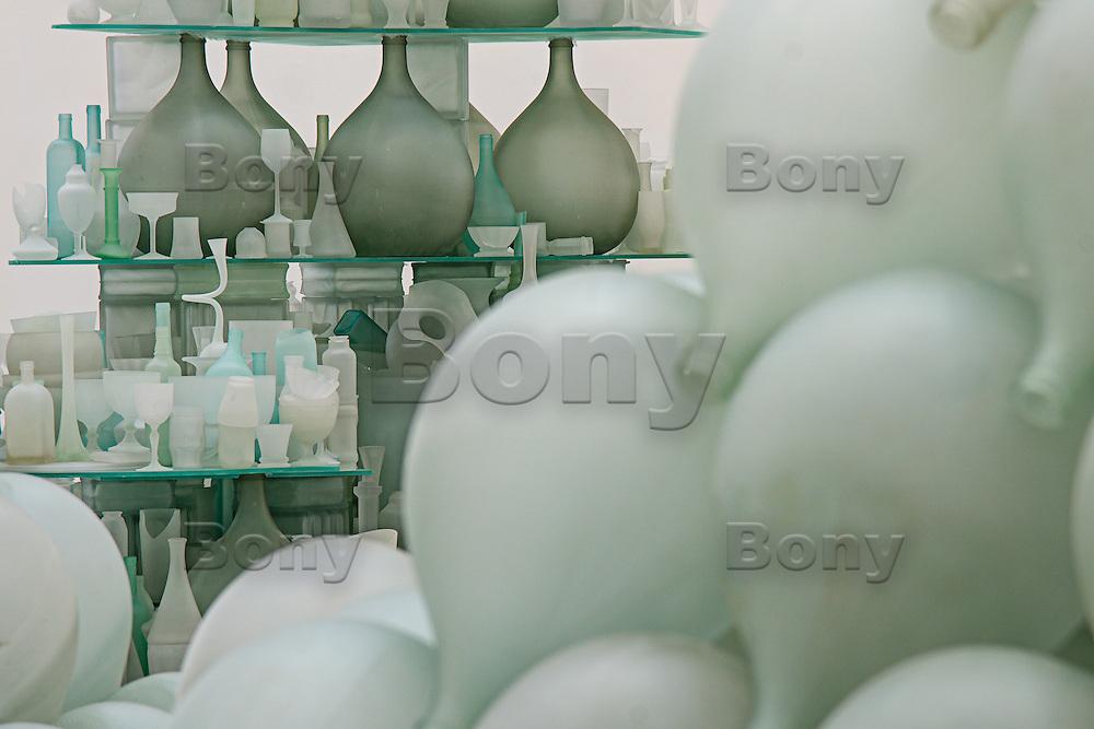 Tony Cragg, Musee d'Art Moderne de St Etienne - Sept 2013.<br /> Fields of Heaven (Detail)