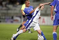 Fotball<br /> Frankrike<br /> Foto: Dppi/Digitalsport<br /> NORWAY ONLY<br /> <br /> FOOTBALL - UEFA CUP 2006/2007 - 1ST ROUND - 2ND LEG - AJ AUXERRE v DINAMO ZAGREB - 28/09/2006<br /> <br /> LIONEL MATHIS (AUX) / OELITON DOS SANTOS (DIN)
