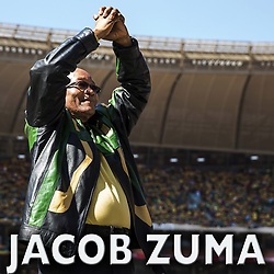August 8, 2017 - (File Photo) - South Africa's President Jacob Zuma has survived his latest vote of no confidence. PICTURED: May 6, 2014 - Johannesburg, South Africa - JACOB ZUMA celebrates during a campaign event during the General election, ANC rally in Guateng, outside Johannesburg. (Credit Image: © Aftonbladet/IBL/ZUMAPRESS.com)