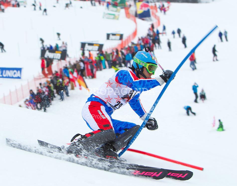 22.01.2012, Ganslernhang, Kitzbuehel, AUT, FIS Weltcup Ski Alpin, 72. Hahnenkammrennen, Herren, Slalom 1. Durchgang, im Bild Naoki Yuasa (JPN) // Naoki Yuasa of Japan during Slalom race 1st run of 72th Hahnenkammrace of FIS Ski Alpine World Cup at 'Ganslernhang' course in Kitzbuhel, Austria on 2012/01/22. EXPA Pictures © 2012, PhotoCredit: EXPA/ Johann Groder