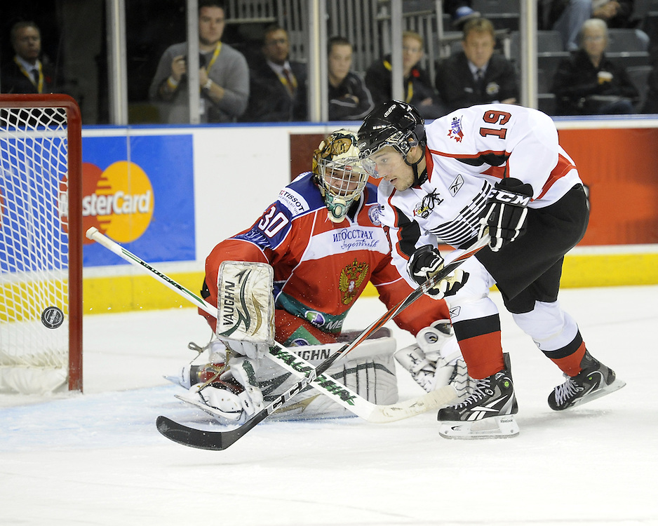 Game 3 of the SUBWAY Super Series at the John Labatt Centre in London, ON on Thursday Nov. 11. Photo by Aaron Bell/OHL Images