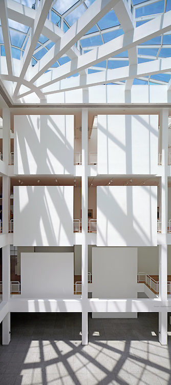 The Richard Meier designed atrium within the High Museum of Art in Atlanta. ©2012 John Muggenborg / muggphoto