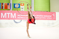 Julia Evchik of Belarus competes during 31st MTM - International tournament in rhythmic gymnastics Ljubljana, on April 7, 2018 in Gymnastics center Ljubljana, Ljubljana, Slovenia. Photo by Matic Klansek Velej / Sportida