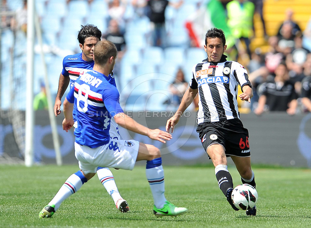 Udine, 05 maggio 2013..Campionato di calcio Serie A 2012/2013.  35^ giornata. Stadio Friuli..Udinese vs Sampdoria..Nella foto: Giampiero Pinzi..© foto di Simone Ferraro