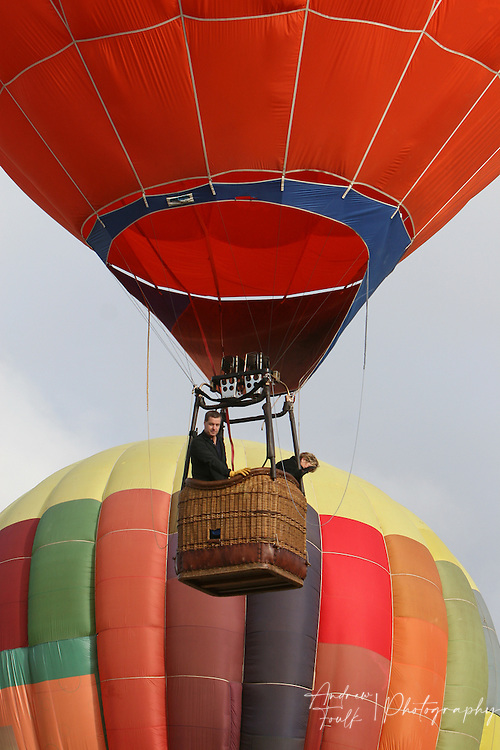 /Andrew Foulk/ For The Californian/.In the early morning hours around 40 hot air balloons took to the skies above wine country Saturday morning, during the 26th annual Temecula Balloon and Wine Festival.