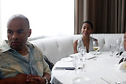 l to r: Jeff Clanagan and Andrea Kelly at The ABFF Luncheon Hosted by HSBC and Rush Philanthropic Arts held at The Delano in Miami Beach on June 27, 2009..The American Black Film Festival is an industry retreat and competitve marketplace for films and by and about people of color.