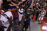 DESCRIZIONE : Roma Lega A 2012-13 Acea Roma Trenkwalder Reggio Emilia<br /> GIOCATORE : Adeola Dagunduro<br /> CATEGORIA : esultanza curiosita fair play tifosi<br /> SQUADRA : Acea Roma<br /> EVENTO : Campionato Lega A 2012-2013 <br /> GARA : Acea Roma Trenkwalder Reggio Emilia<br /> DATA : 14/10/2012<br /> SPORT : Pallacanestro <br /> AUTORE : Agenzia Ciamillo-Castoria/GiulioCiamillo<br /> Galleria : Lega Basket A 2012-2013  <br /> Fotonotizia : Roma Lega A 2012-13 Acea Roma Trenkwalder Reggio Emilia<br /> Predefinita :