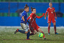CESENA, ITALY - Tuesday, January 22, 2019: Wales' Hayley Ladd during the International Friendly between Italy and Wales at the Stadio Dino Manuzzi. (Pic by David Rawcliffe/Propaganda)