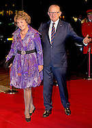 UTRECHT - Princess Margriet and Pieter van Vollenhoven arrive in Utrecht Dutch royal family attend the 75th birthday anniversary of Pieter van Vollenhoven and the 25th jubilee of the Fonds Slachtofferhulp (Victim Fund) in Utrecht. COPYRIGHT ROBIN UTRECHT
