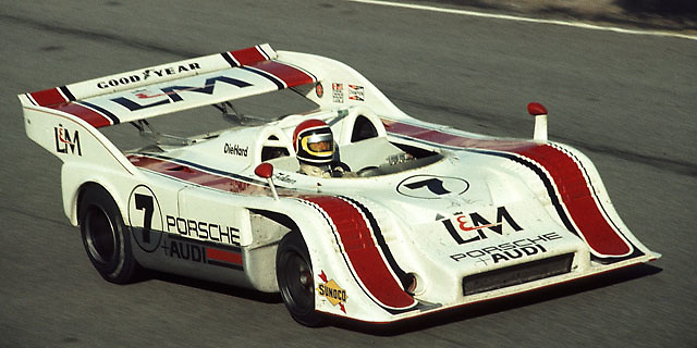 George Follmer, Porsche 917/10K, at Laguna Seca Can-Am 1972, the race in which he clinched that year's championship; Photo by Pete Lyons 2012 / www.petelyons.com;