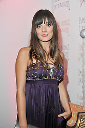 SARAH OWEN at a party to celebrate the launch of the Lucy in Disguise Ready to Wear collection exclusive to Harvey Nichols, held at The Fifth Floor Restaurant, Harvey Nichols, Knightsbridge, London on 25th May 2011.