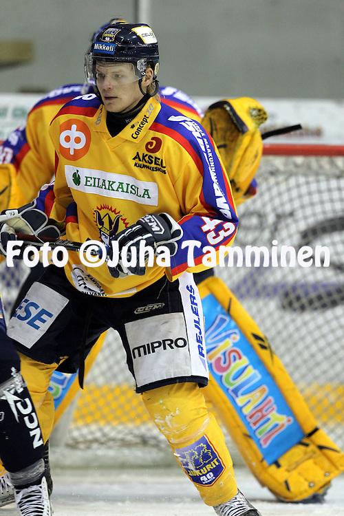 05.01.2011, Lemp??l?..J??kiekon Mestis 2010-11. .Lemp??l?n Kisa - Mikkelin Jukurit..Sami Kautto - Jukurit.©Juha Tamminen.