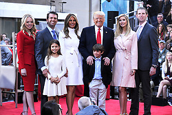 21.04.2016, Rockefeller Plaza, New York, USA, NBC Show, Today, Trump, im Bild Donald Trump mit Familie Tiffany Trump, Donald Trump Jr, Kai Trump, Ivanka Trump, Donald Trump III, Ivanka Trump und Eric Trump // during the NBC Show 'Today' at the Rockefeller Plaza in New York, United States on 2016/04/21. EXPA Pictures &copy; 2016, PhotoCredit: EXPA/ Newspix/ Dennis Van Tine<br /> <br /> *****ATTENTION - for AUT, SLO, CRO, SRB, BIH, MAZ, TUR, SUI, SWE only*****