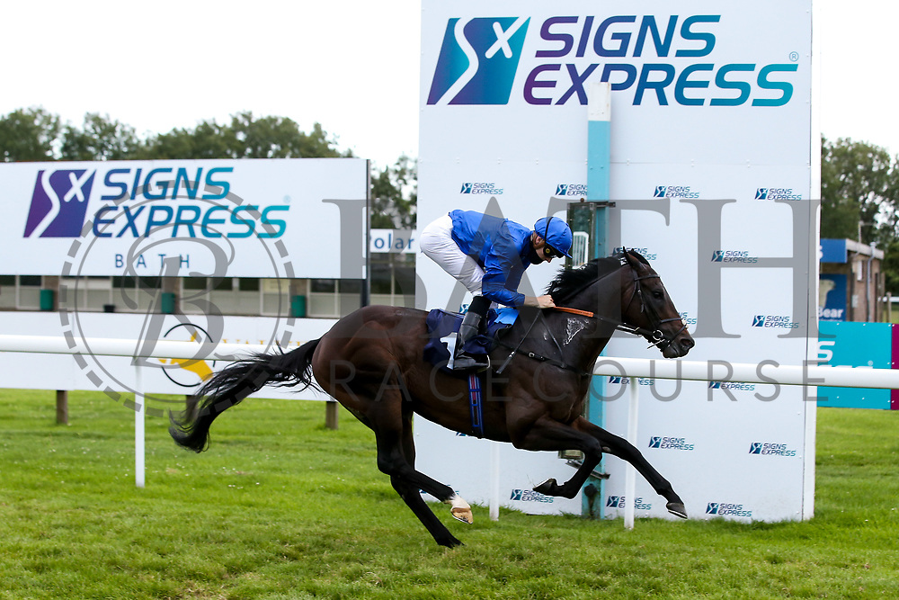 City Walk ridden by Hector Crouch and trained by Saneed bin Suroor wins the Sky Sports Racing Virgin 535 Handicap - Mandatory by-line: Robbie Stephenson/JMP - 18/07/2020 - HORSE RACING- Bath Racecourse - Bath, England - Bath Races 18/07/20