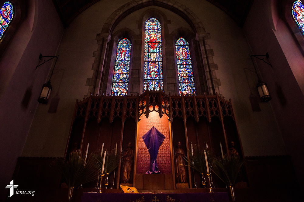 The altar adorned for Lent at Our Savior Lutheran Church on Saturday March 24, 2018, in Baltimore. LCMS Communications/Erik M. Lunsford