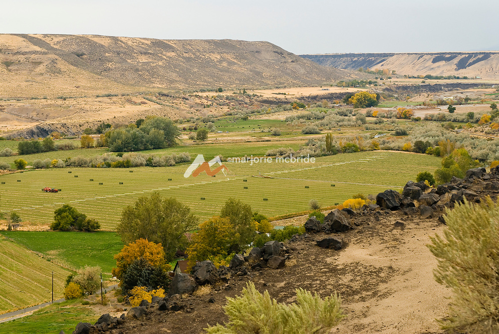 Hagerman valley.  Agricultural canyon overlook. Idaho.