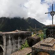 Graveyard in Marcapata, Peru, along the Interoceanica Sur highway between Cusco and Puerto Maldonado, Peru. A 430 kilometer section of the transcontinental Interoceanic Highway that crosses Peru and Brazil.