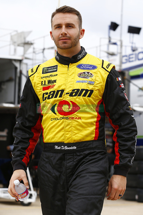 April 6, 2018 - Ft. Worth, Texas, United States of America - April 06, 2018 - Ft. Worth, Texas, USA: Matt DiBenedetto (32) hangs out in the garage during practice for the O'Reilly Auto Parts 500 at Texas Motor Speedway in Ft. Worth, Texas. (Credit Image: © Chris Owens Asp Inc/ASP via ZUMA Wire)