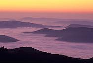 France, Languedoc Roussillon, Gard (30), Cevennes, vue depuis le col de la Cravatte, région Le Vigan.