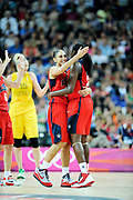 DESCRIZIONE : Basketball Jeux Olympiques Londres Demi finale<br /> GIOCATORE : Taurasi Diana Charles Tina USA <br /> SQUADRA : USA FEMME<br /> EVENTO : Jeux Olympiques<br /> GARA : USA AUSTRALIE<br /> DATA : 09 08 2012<br /> CATEGORIA : Basketball Jeux Olympiques<br /> SPORT : Basketball<br /> AUTORE : JF Molliere <br /> Galleria : France JEUX OLYMPIQUES 2012 Action<br /> Fotonotizia : Jeux Olympiques Londres demi Finale Greenwich Arena<br /> Predefinita :