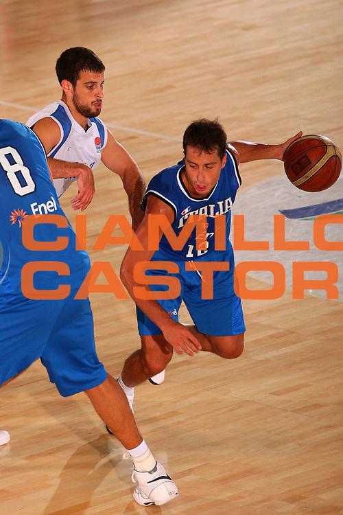 DESCRIZIONE : Bormio Torneo Internazionale Maschile Diego Gianatti Italia Israele <br /> GIOCATORE : Massimo Bulleri <br /> SQUADRA : Nazionale Italia Uomini Italy <br /> EVENTO : Raduno Collegiale Nazionale Maschile <br /> GARA : Italia Israele Italy Israel <br /> DATA : 01/08/2008 <br /> CATEGORIA : Palleggio <br /> SPORT : Pallacanestro <br /> AUTORE : Agenzia Ciamillo-Castoria/S.Silvestri <br /> Galleria : Fip Nazionali 2008 <br /> Fotonotizia : Bormio Torneo Internazionale Maschile Diego Gianatti Italia Israele <br /> Predefinita :