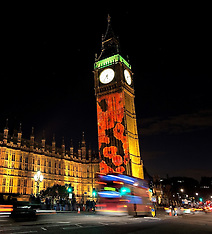 NOV 09 2014 Poppies  projected on Big Ben