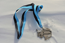 © Licensed to London News Pictures. Union Glacier, Antarctica. A medal for the 9th edition of the Antarctic Ice Marathon. The Ice Marathon took place at Union Glacier, Antarctica, and is  recognised as the world's southernmost marathon and the only official running event within the Antarctic Circle, taking place just a few hundred miles from the South Pole at the foot of the Ellsworth Mountains. Temperatures were an ice cool -21C when the event got underway at 13:10 GMT on Wednesday 20  November. A total of 56 athletes from 21 countries took part in the ninth edition of the event, which is  an essential race for marathon runners seeking to join the Seven Continents Marathon Club. Photo credit: Mike King/LNP