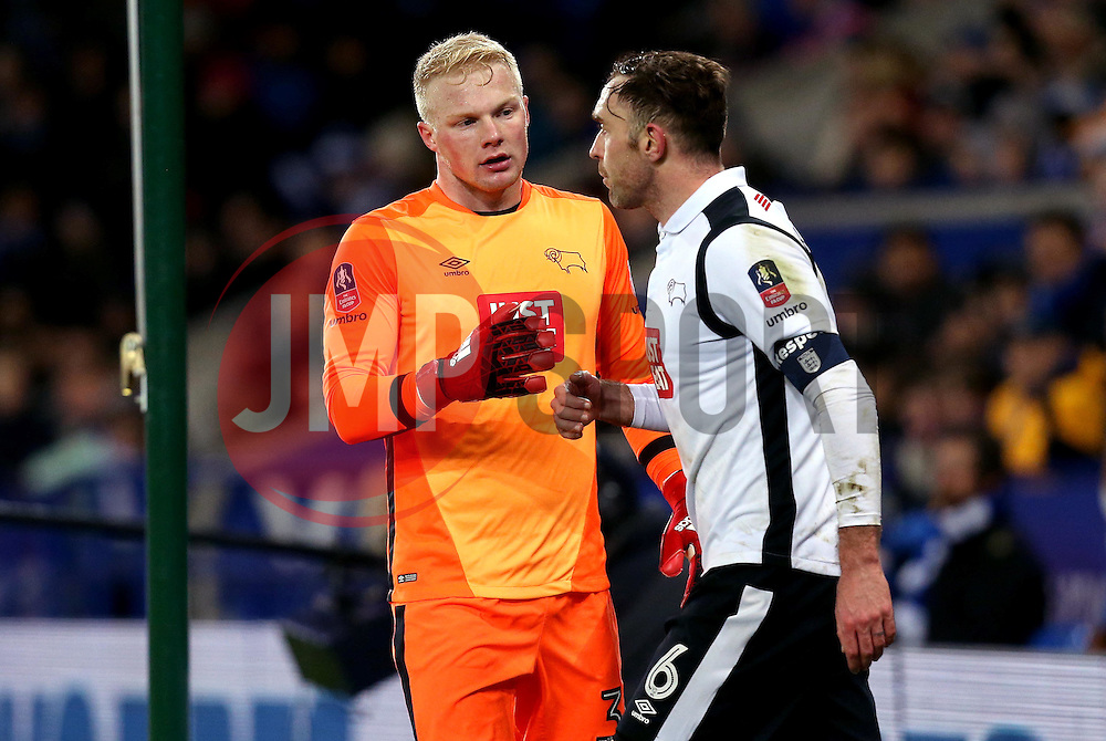 Jonathan Mitchell of Derby County and Richard Keogh of Derby County - Mandatory by-line: Robbie Stephenson/JMP - 08/02/2017 - FOOTBALL - King Power Stadium - Leicester, England - Leicester City v Derby County - Emirates FA Cup fourth round replay