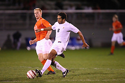 Virginia Cavaliers D/MF Ian Holder (6) in action against Clemson.  The Virginia Cavaliers Men's Soccer Team defeated the Clemson Tigers 2-0 in the ACC Tournament, Quarterfiles Round, on November 1, 2006 at the Maryland Soccerplex in Germantown, MD.