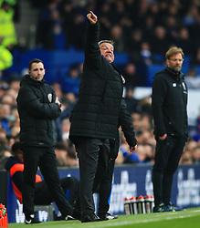 Everton manager Sam Allardyce points - Mandatory by-line: Matt McNulty/JMP - 07/04/2018 - FOOTBALL - Goodison Park - Liverpool, England - Everton v Liverpool - Premier League