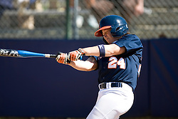 Virginia Cavaliers SS/2B Kierstie Cameron (24) at bat against Towson.  The Virginia Cavaliers Softball team faced the Towson University Tigers on April 3, 2007 at The Park in Charlottesville, VA.