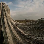 Venezia - Reti in barena nei pressi di Marghera. Venice - Nets in South Lagoon near Marghera.